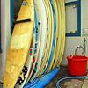Surfboards, seen near the Beach at Padero, Carpinteria, CA