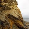 Rock formations on the beach below Shoreline Park