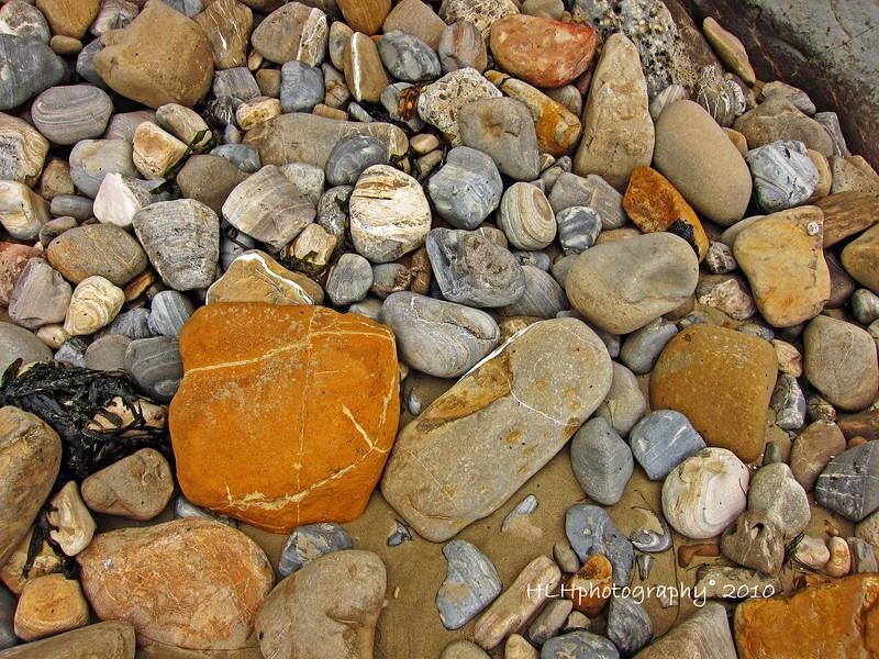 Rocks on the beach below Shoreline Park