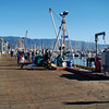 The dock in Santa Barbara Harbor.