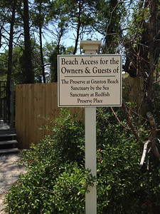 Since our house was in the Preserve, we got to enjoy this boardwalk to the Beach.