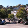 A side street in downtown Sausalito.