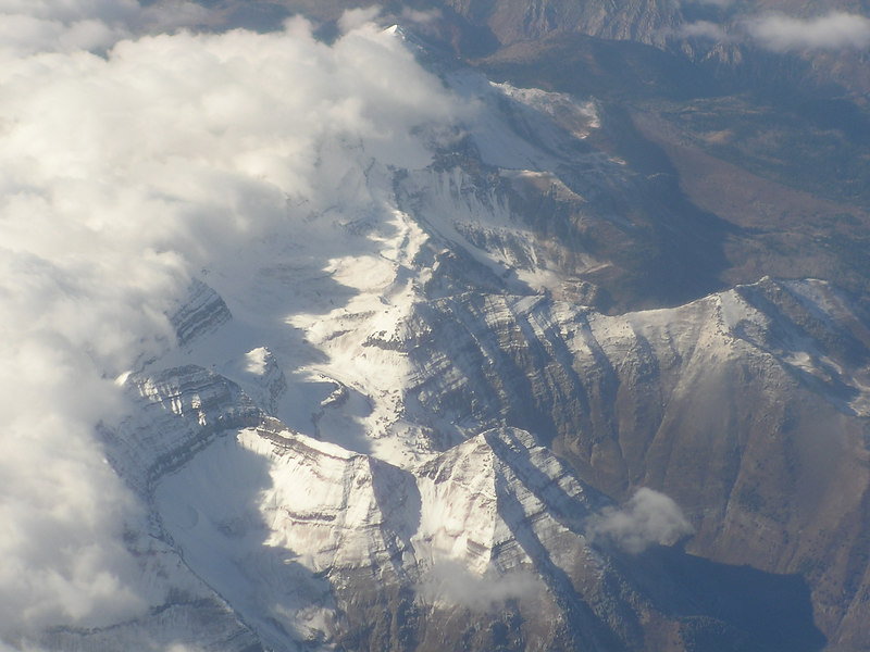 Sierra Nevada, from the plane.