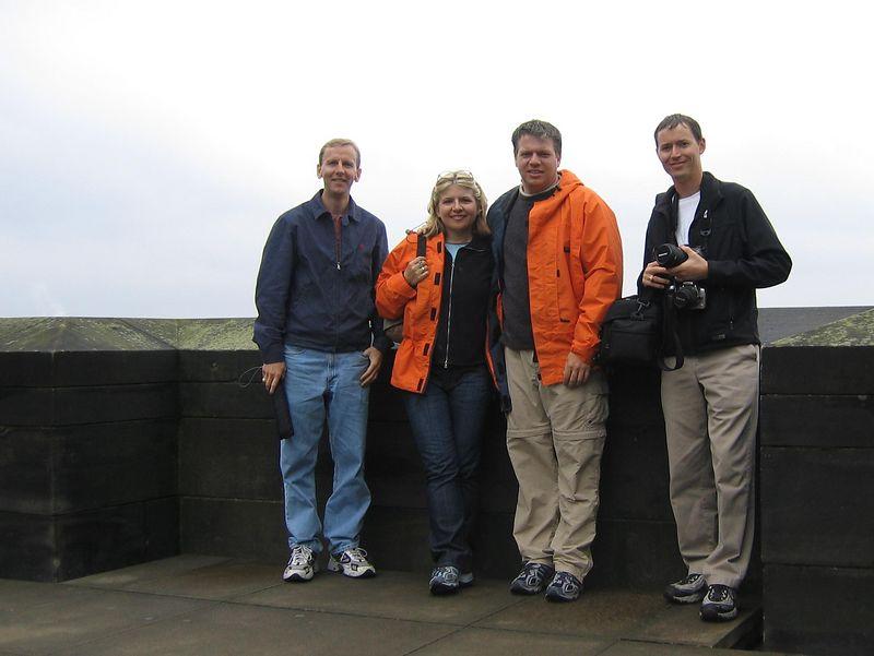 Group shot in Edinburgh castle
