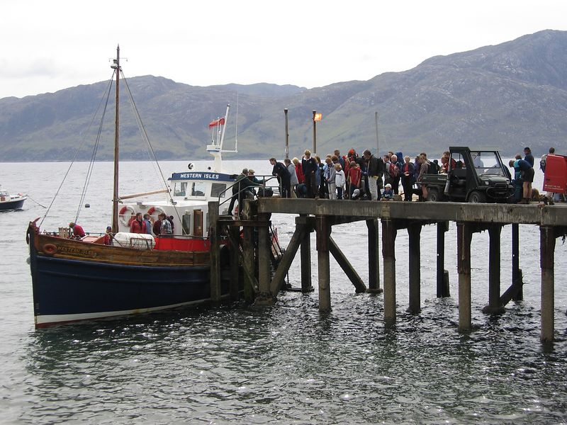 The Western Isle depositing its passengers on the Knoydart Peninsula