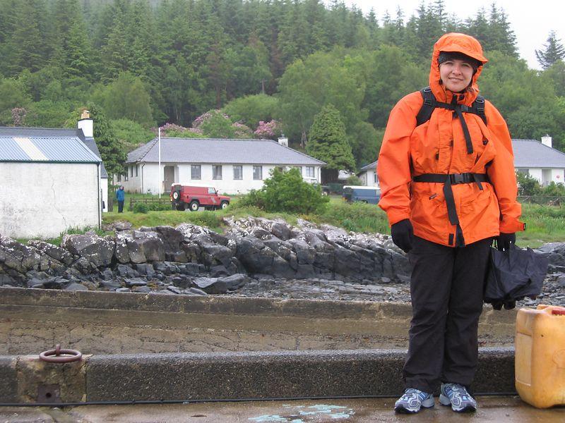 Kelly in the rain