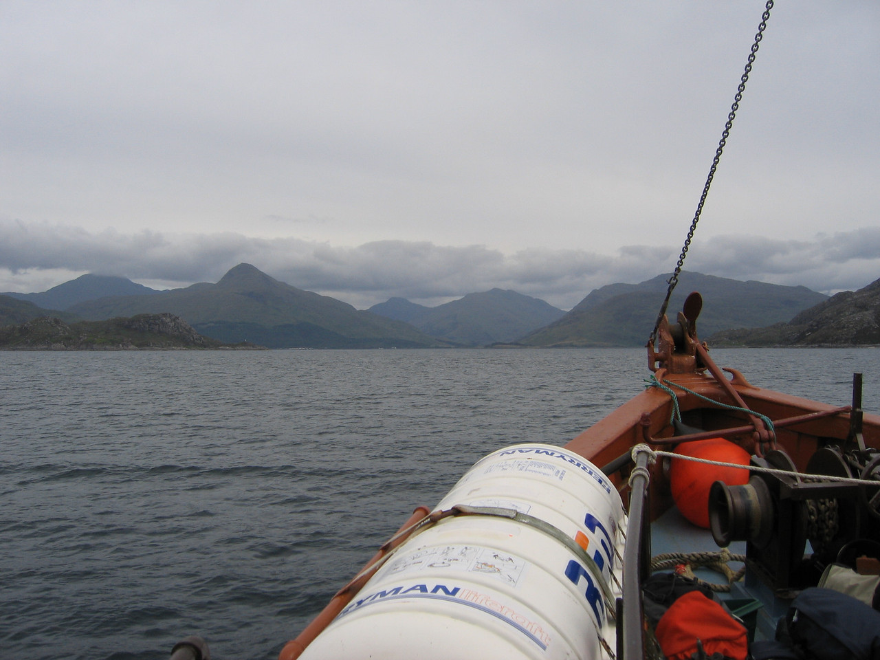 Knoydart Peninsula in the distance