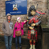 Troy and Emily posing in Edinburgh Castle, Edinburgh, Scotland.