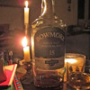 The power went out to Gairloch (and indeed half of all Scotland), so we enjoyed some whisky by candlelight at Kirsty's place.