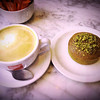 Latte with Pistachio Financier