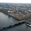 View of the Houses of Parliament and Big Ben taken from the London Eye.
