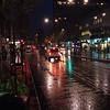 A wet London street.