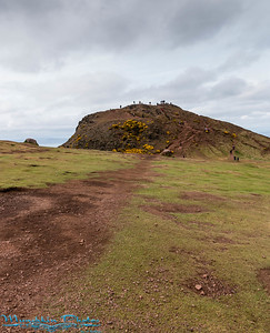 almost to the top of Arthur's seat