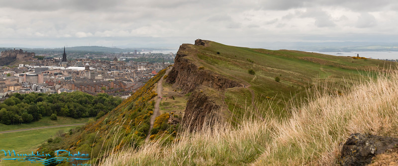 view part way up Arthur's Seat