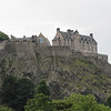 a view of part of Edinburgh Castle, situated atop the basalt core of an extinct volcano.  It is an assemblage of buildings dating from the 12th - 20th centuries.  Over the centuries is has been a fortress, royal palace, military garrison and state prison.  Later this same night, fireworks were set from this location, while a live orchestra played  - see next photo