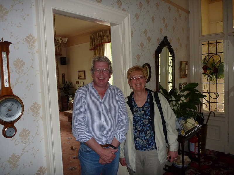 Tim & Me - on arriving in Stirling at Firgrove House.