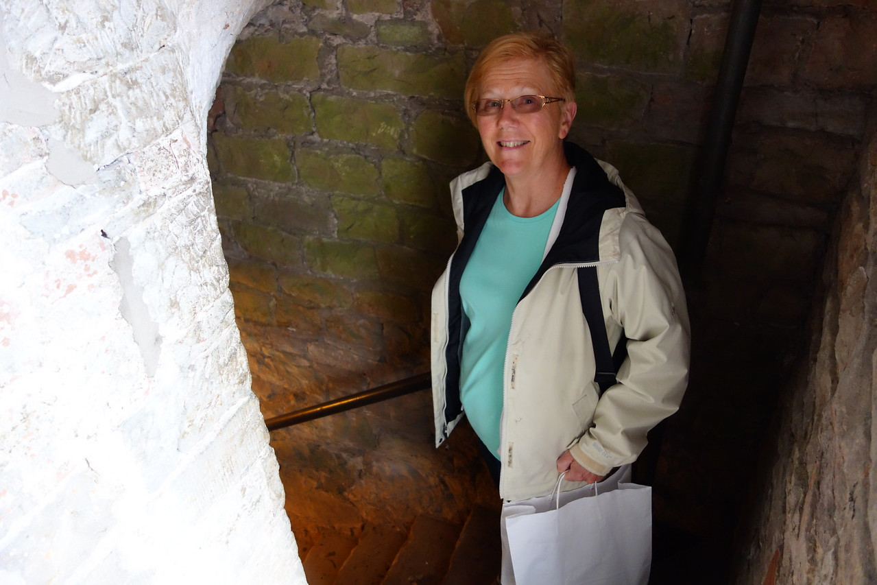 tower stairs at Brougham Hall