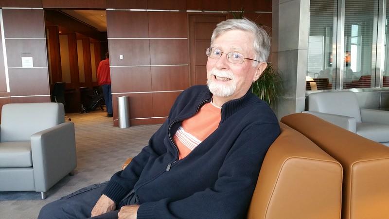 David enjoying the lounge