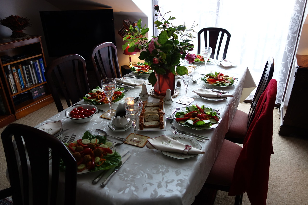 First night's dinner at Anna and Vincent's house.  This was just the 1st course.