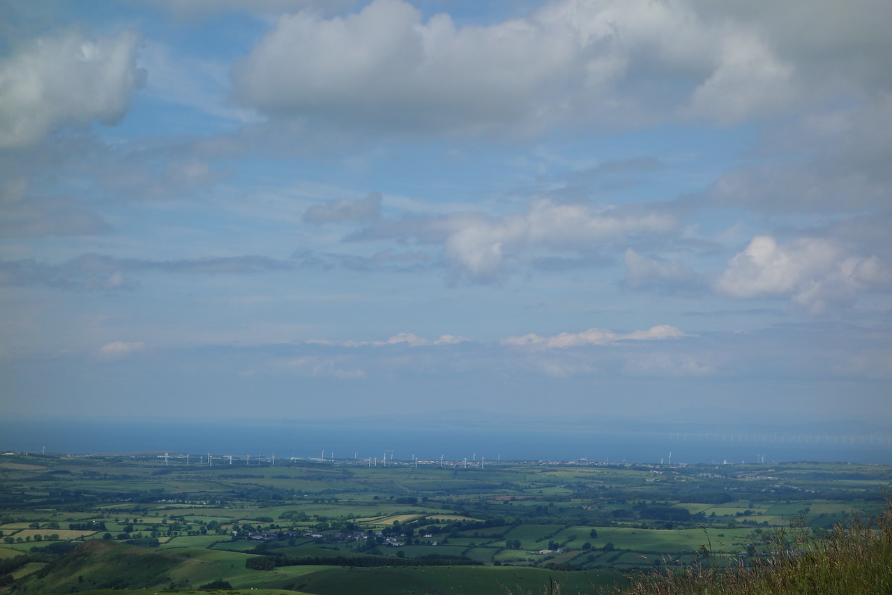 The Irish Sea from our walk on Low Fell