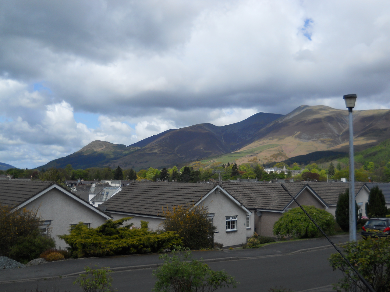 Landed in Manchester around 8:30am and headed for Keswick.  This is the view from Bob's driveway.