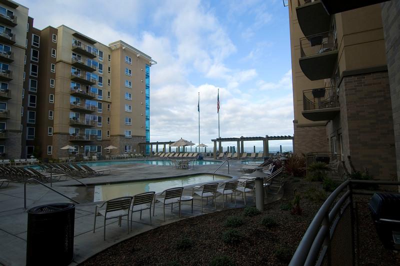 Resort at Seaside in the morning