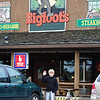 This restaurant was great - and he happened to be studying enigmas - including bigfoot!