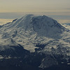 Mt Rainier from the plane window