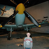 Chandler in front of a WWII Spitfire.