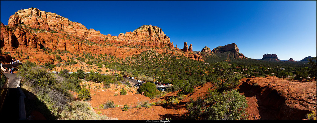 Stitched Panorama from Chapel of the Holy Cross in Sedona, AZ