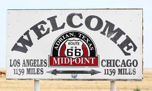 Midpoint of Route 66 Adrian, Texas