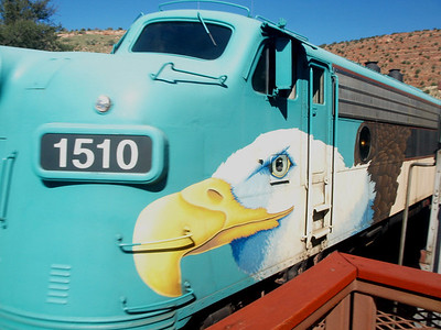 Verde Canyon Railroad train engine