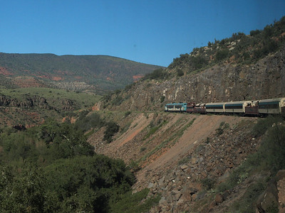 Our train on the Verde Canyon Railroad