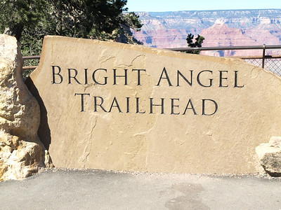 Bright Angel Trailhead at the Grand Canyon