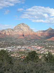 Thunder Mountain and a portion of Sedona, Arizona.