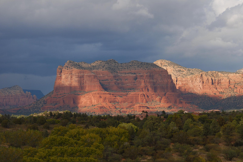 Our first view of Sedona.