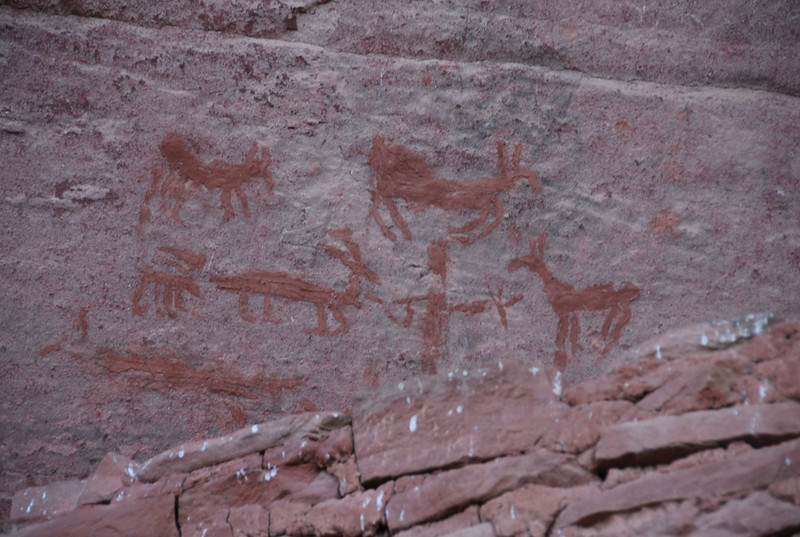 Old indian petroglyphs