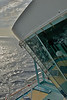 A view from the top deck of the Enchantment of the Seas
