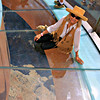 JoAnn On The Glass Floor of the Skywalk