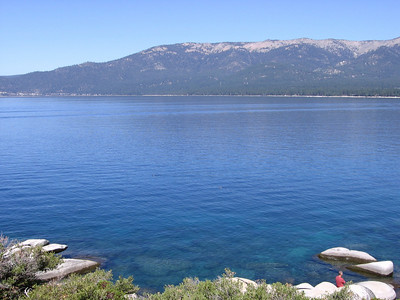 Eastern shore of Lake Tahoe.