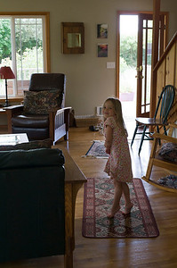 Kaitlyn at the rental house in Sequim.