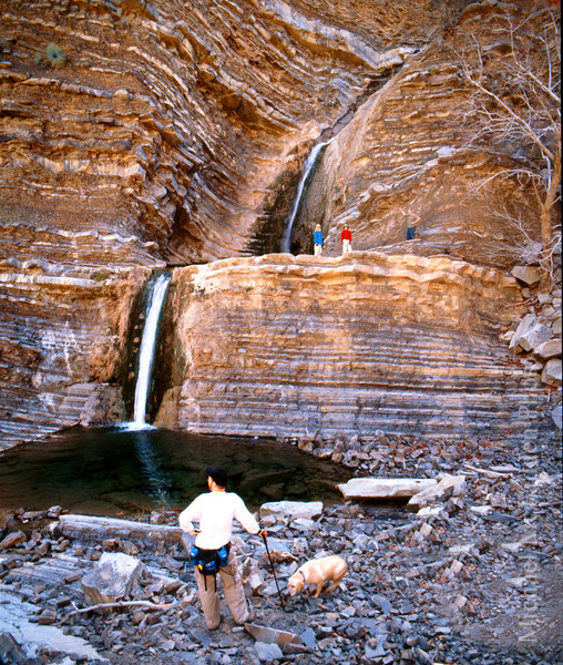 Los Padres National Forest Waterfalls in stratified beds