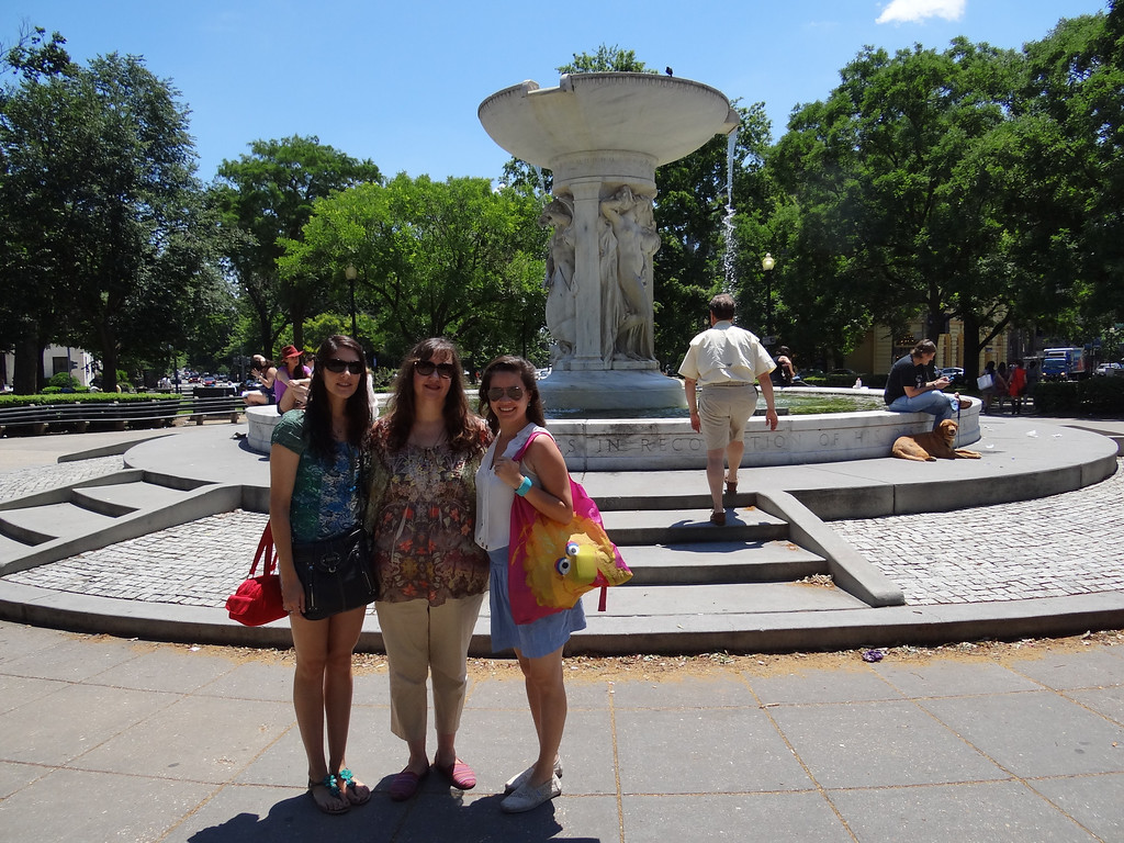 Lovely ladies in Dupont Circle on a hot afternoon.