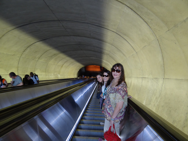 On the way down to the Metro at Dupont Circle.
