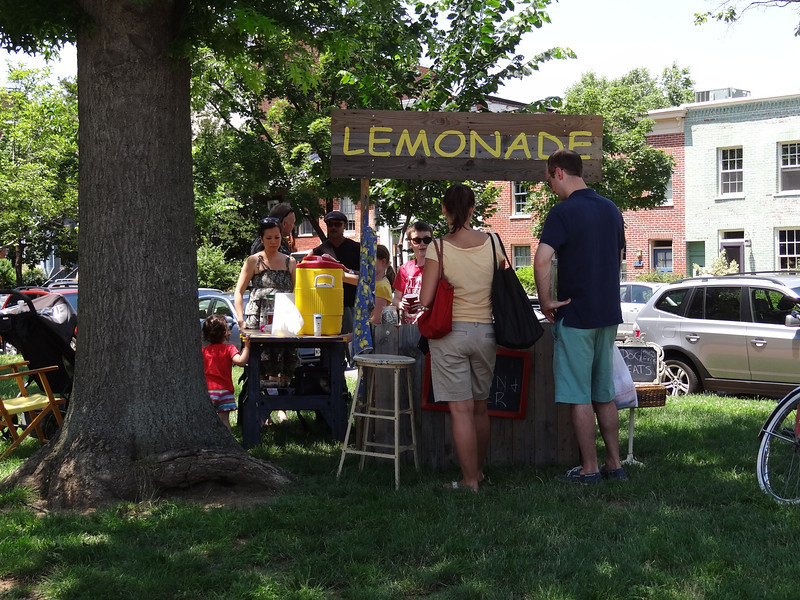 This lemonade stand by Capitol Hill's Eastern Market was making a killing!