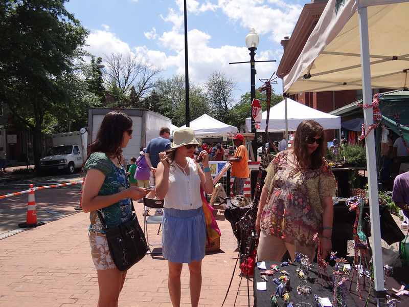 The lovely ladies were checking out the wares at Eastern Market.
