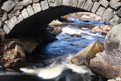 Bridge and stream in Stoddard, NH