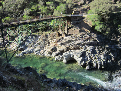 The North Bloomfield Road bridge over the North Yuba River.