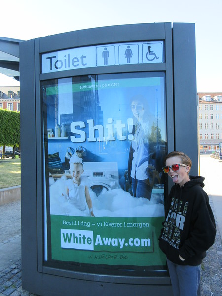 this public toilet was right outside of our hotel in Copenhagen.  Could not resist taking the picture.