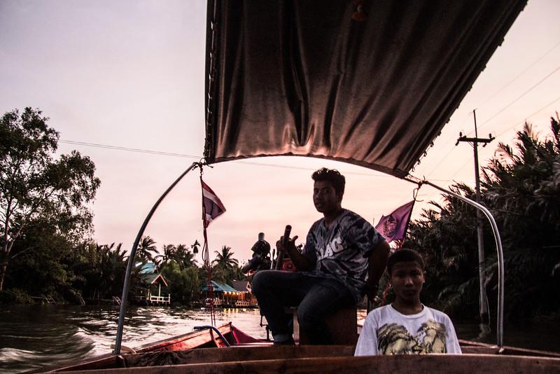 Thailand boating around Amphawa